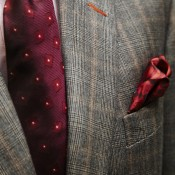 Lapel and tie from Gieves & Hawkes. Photo supplied by Gieves & Hawkes.