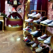 Shoe display at Poste Mistress in London. Photo by alphacityguides.