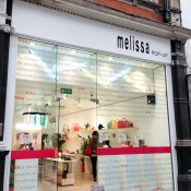 Store front at Melissa in London. Photo by alphacityguides.