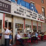 Patio at La Esquina Corner Deli in New York. Photo by alphacityguides.