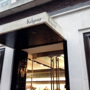 Store front at Kilgour on Savile Row in London. Photo by alphacityguides.