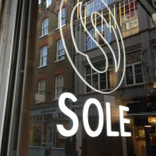Store Front at Sole in London. Photo by alphacityguides.