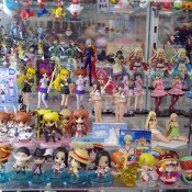 Collectible figurines in Akihabara, Tokyo. Photo by alphacityguides.