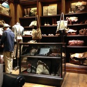 Fashion and accessory display and merchandising at RRL in New York. Photo by alphacityguides.