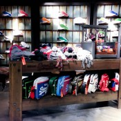 Shoes and bags at Superdry in London. Photo by alphacityguides.