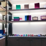 Accessories display at Smythson in London. Photo by alphacityguides.