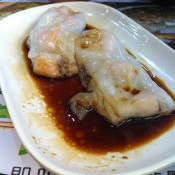 Dumpling in sauce at Tim Ho Wan in Hong Kong. Photo by alphacityguides.