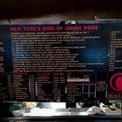 Menu Crif Dogs New York. Photo by alphacityguides.