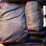 How to pack a carry-on, small clothing pack and toiletries. Photo by alphacityguides.