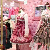 Sweet Lolita dresses at Angelic Pretty in Tokyo. Photo by alphacityguides.
