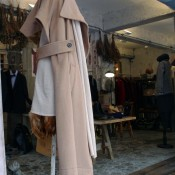 Womanswear coat at Initial in Hong Kong. Photo by alphacityguides.