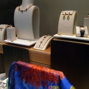 Accessory display at Hermès in Paris. Photo by alphacityguides.