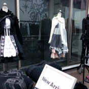 Japanese fashion at gothic Shop H. Naoto in Tokyo. Photo by alphacityguides.