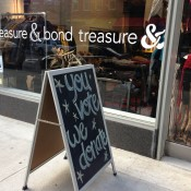 Store front at Treasure & Bond in New York. Photo by alphacityguides.