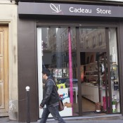 Store front at Cadeau in Paris. Photo by alphacityguides.