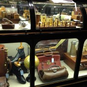 Accessory display inside Gieves & Hawkes London. Photo by alphacityguides.