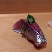 Aji at Sushi Dai in Tokyo. Photo by alphacityguides.