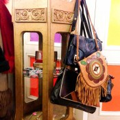 Vintage bags at Pop Boutique in London. Photo by alphacityguides.