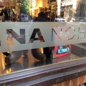 Window at INA NoHo in New York. Photo by alphacityguides.