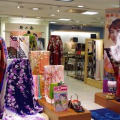 Kimono department at Keio department store in Tokyo. Photo by alphacityguides.