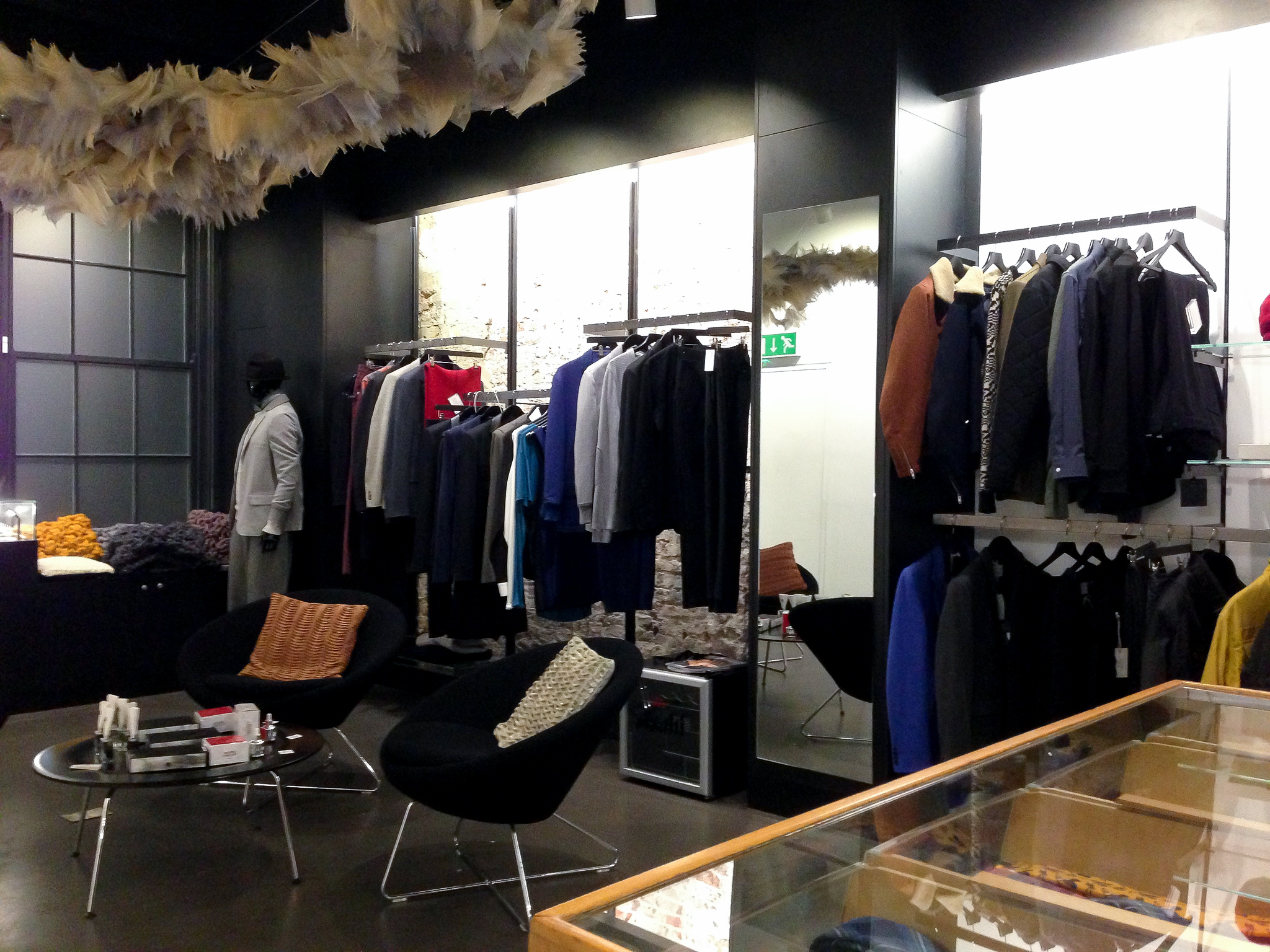 Fashion display at Wolf & Badger in London. Photo by alphacityguides.